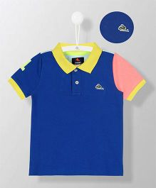 Cherry Crumble California Polo Tee - Royal Blue & Sky Blue