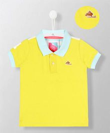 Cherry Crumble California Plain Polo Tee - Yellow & Light Blue