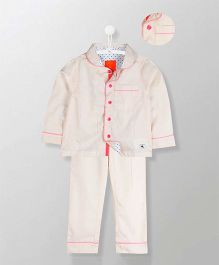 Cherry Crumble California Shimmering Pyjama Set - Offwhite