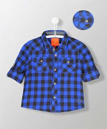 Cherry Crumble California Cotton Checks Shirt - Blue