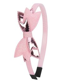 Daizy Shimmer Bow Hair Band - Light Pink