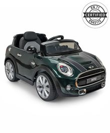 Mini Cooper Battery Operated Car Ride On - Black Green