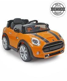 Mini Cooper Battery Operated Car Ride On  - Orange
