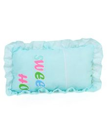 Printed Baby Pillow - Aqua Blue