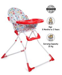 Babyhug Fun Feast Highchair - Red