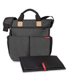Skip Hop Duo Signature Diaper Bag With Changing Mat - Dark Grey