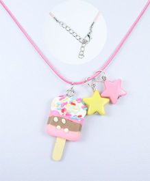 Asthetika Ice Cream Pendant Necklace - Light Pink