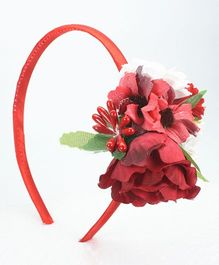 Asthetika Floral Hair Band - Red