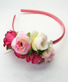 Asthetika Monochrome Rose Bunch Hair Band - Pink