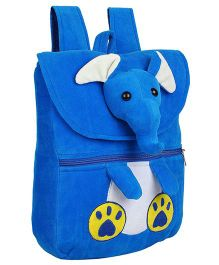 Frantic Velvet Nursery Bag Elephant Face Design Royal Blue - 14 inches