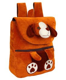Frantic Velvet Nursery HKT Bag Puppy Face Design Brown - 14 inches