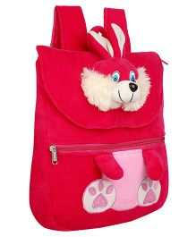 Frantic Velvet Nursery Bag Bunny Face Design Pink - 14 inches