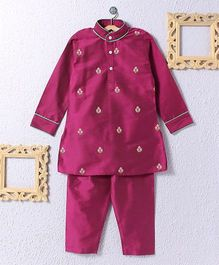 KIDS CLAN Kurta Pajama Set - Pink