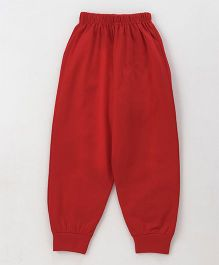 Fido Full Length Lounge Pant - Red