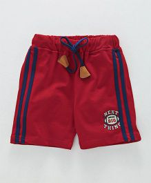 Olio Kids Drawstring Shorts Next Big Thing Print - Red