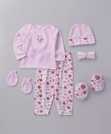 Mee Mee Clothing Gift Set  Pack of 7 - Pink White