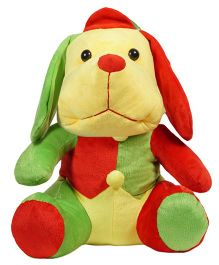 Ultra Puppy Plush Soft Toy Red & Green - Height 30 cm