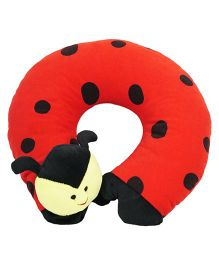 Ultra Neck Pillow Beetle Design - Red Black