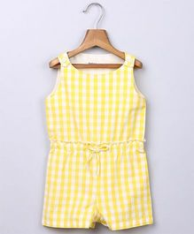 Beebay Gingham Jumpsuit  - Yellow