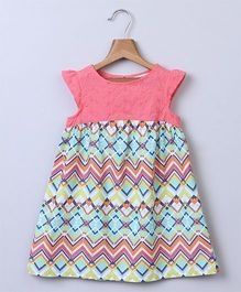Beebay Chevron Print & Schiffli Emb Dress - Multi-color