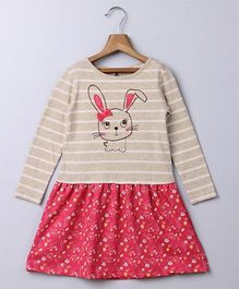 Beebay Rabbit Applique Dress - Red