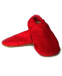 SKIPS Cotton Booties - Red