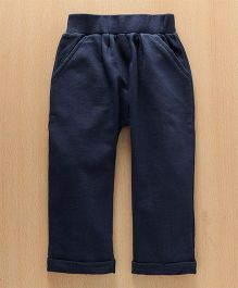 Babyhug Full Length Knitted Lounge Pant - Blue