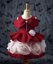 Enfance Beautiful Rose Party Dress - Red