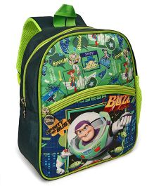 Toy Story School Back Pack Green - 12 Inches