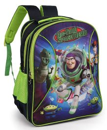 Toy Story School Bag Big Time Space Hero Print Navy Blue Green - 16 inches