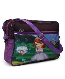 Sofia The First Shoulder Bag Black Purple - 8.9 inches