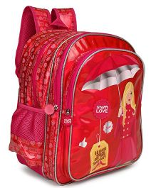 Steffy Love School Bag With Adjustable Straps Dark Pink - 16 inches