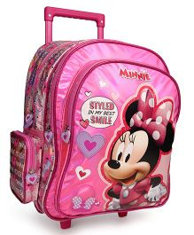 Disney Mickey Mouse Trolley School Bag Heart Print Pink - 16 Inches