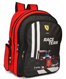 Ferrari Classic School Bag Race Team Print Red Black - 18 inches