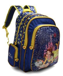 Disney Princess Sequin Backpack Blue - 14 inches