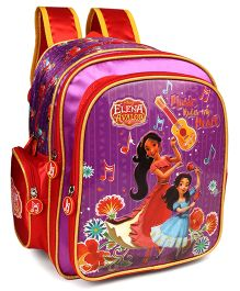 Disney Princess Elena Music Rules My Heart Print Purple Red - 14 inches