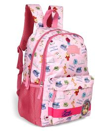 96bc28cbc6a6 Disney Princess Beauty   The Beast School Bag Multi Print Pink - Height 17  inches