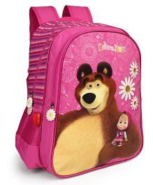 Masha And The Bear School Bag Black - 16 inches