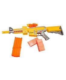 Toyshine Blaze Storm Motorized Foam Blaster Gun Toy - Yellow & Orange