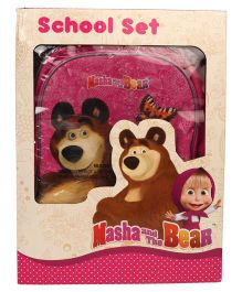 Masha & The Bear School Kit Pack of 5 - Pink