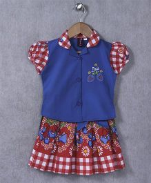 Enfance Core Skirt & Top Set - Blue