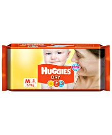 Huggies Dry Taped Diapers Medium Size - 5 Pieces
