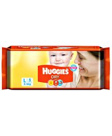 Huggies Dry Taped Diapers Large Size - 5  Pieces