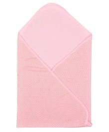 Lula Cotton Double Ply Solid Colour Blanket - Light Pink
