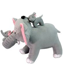 Tickles Mother Elephant With 2 Babies Stuffed Soft - 40 cmPlush Toy