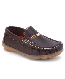 Cute Walk by Babyhug Slip On Loafer Shoes - Brown