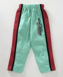 Taeko Full Length Track Pants Text Print - Sea Green
