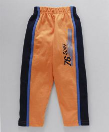 Taeko Full Length Track Pant Surf Print - Orange