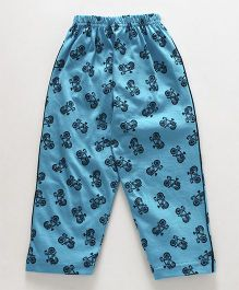 Taeko Full Length Lounge Pant Allover Print - Blue