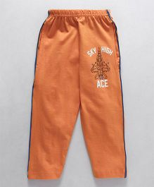 Taeko Full Length Track Pant Sky High Print - Light Orange